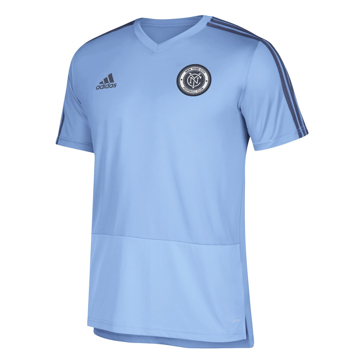 pretty nice 325b2 24c7d Details about New York City FC MLS Adidas Light Blue Climacool 2018 Team  Color Training Jersey