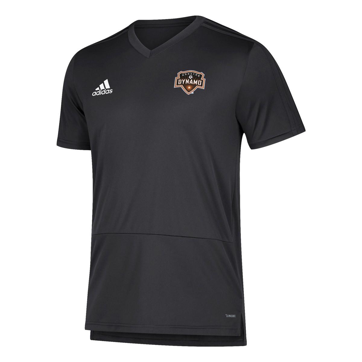 size 40 7f61e e4377 Details about Houston Dynamo MLS Adidas Men's Black Climacool 2018 Training  Jersey