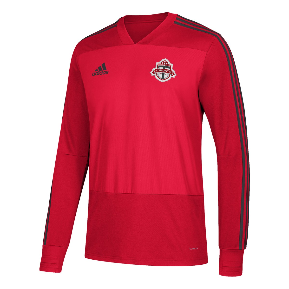 various colors 742b3 68135 Details about Toronto FC MLS Adidas Men's Red Climacool Long Sleeve  Training Jersey