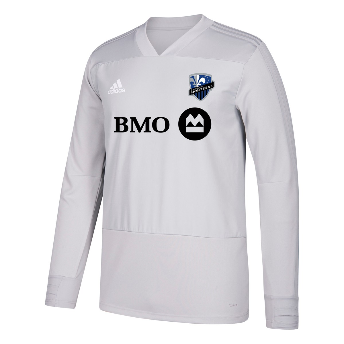 low priced 106d3 81414 Details about Montreal Impact MLS Adidas Men's Grey Climacool Long Sleeve  Training Jersey