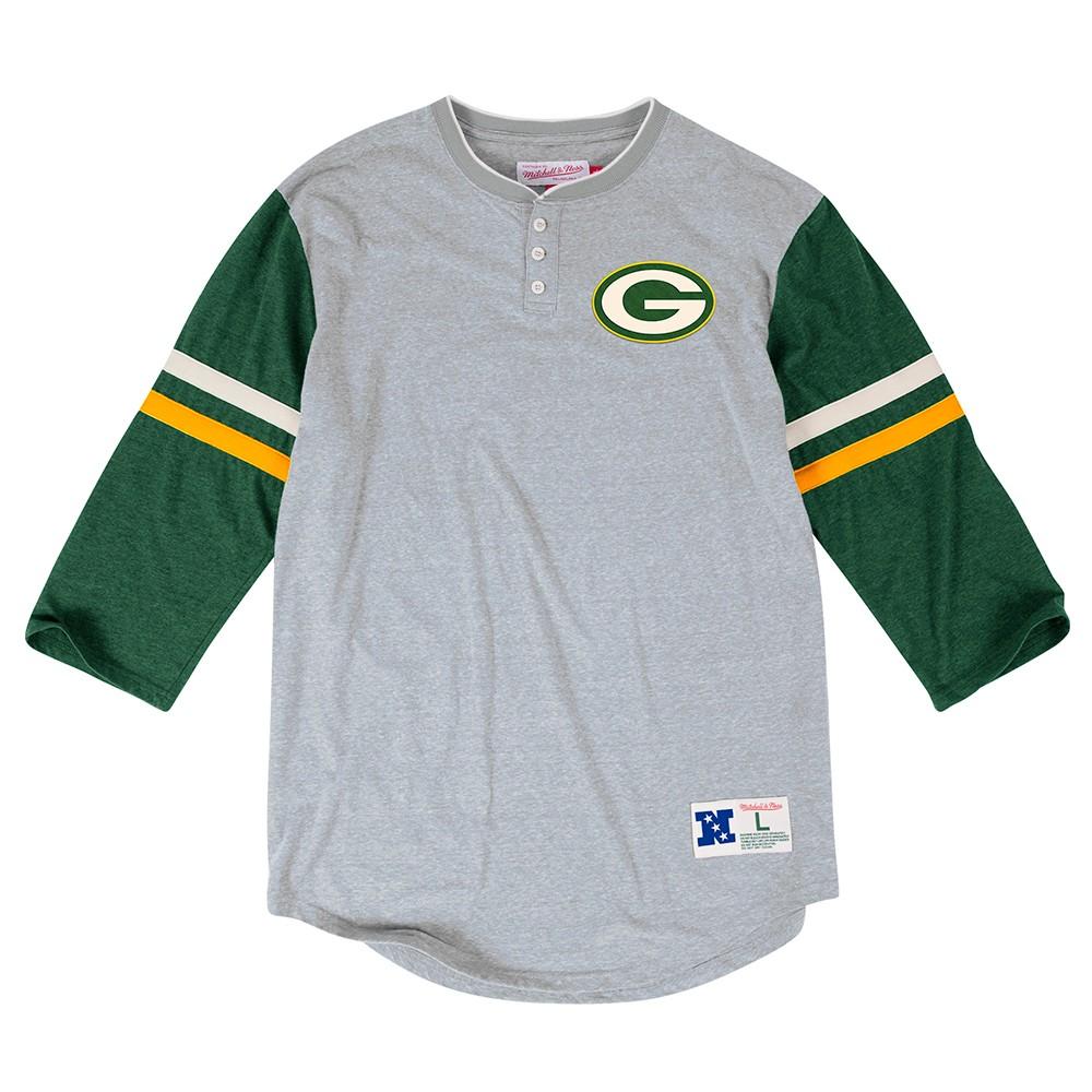 NFL-Mitchell-amp-Ness-034-Home-Stretch-034-Vintage-3-Button-Henley-Shirt-Men-039-s