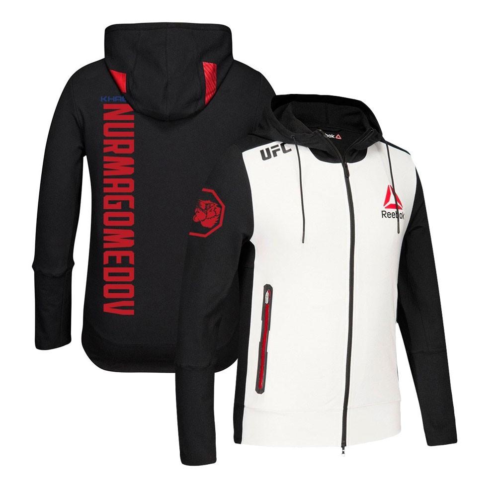 morfina Resonar Llamarada  Khabib Nurmagomedov Reebok UFC Fight Kit Full-Zip Official Black Walkout  Hoodie | eBay