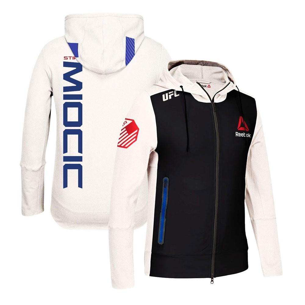 Stipe miocic Reebok UFC Kampf Kit Full Zip offizielle Chalk