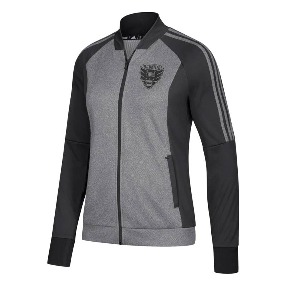 Details about D.C. United MLS Adidas Women's Team Logo Grey Full Zip Anthem Jacket