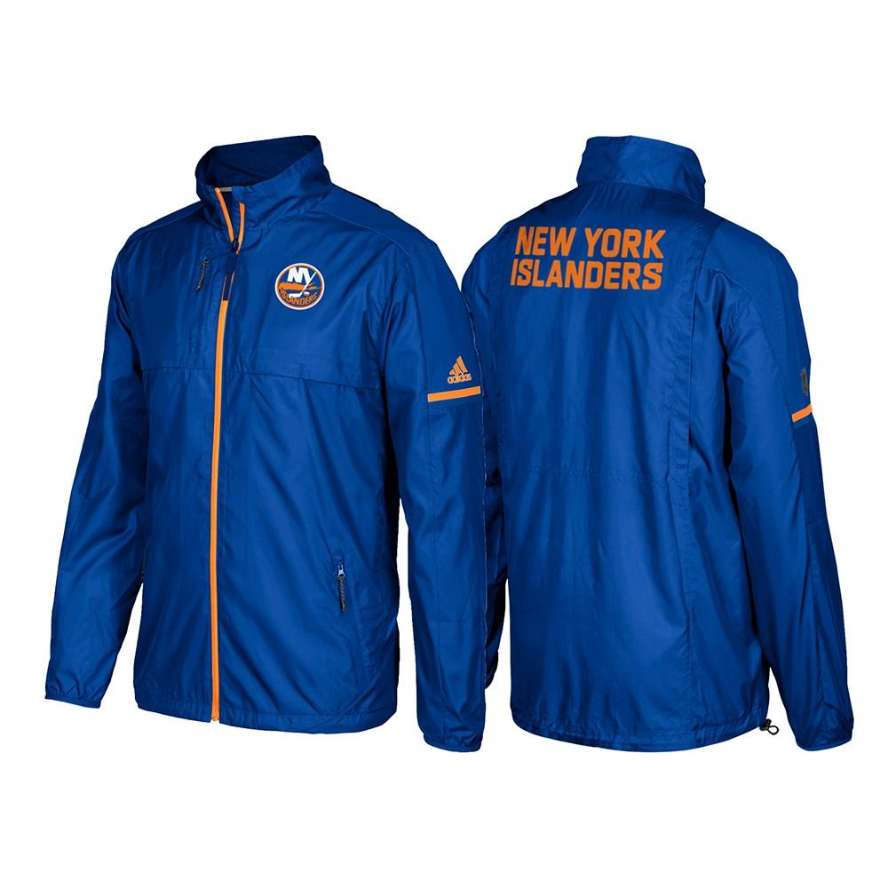 c166a82fb5275 New York Islanders Adidas NHL Men s Blue Authentic Pro Rink (Player  Version) Jacket