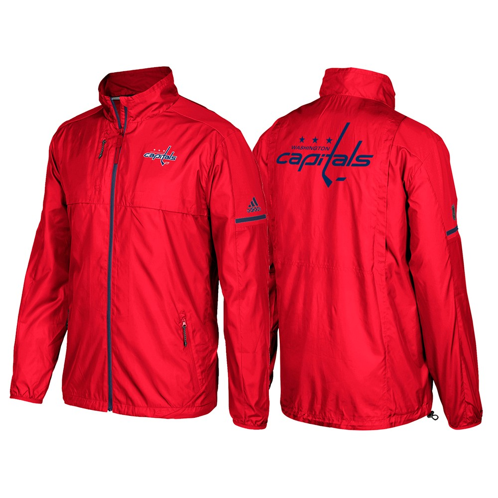 fd4361050 Washington Capitals Adidas NHL Men's Red Authentic Pro Rink (Player  Version) Jacket