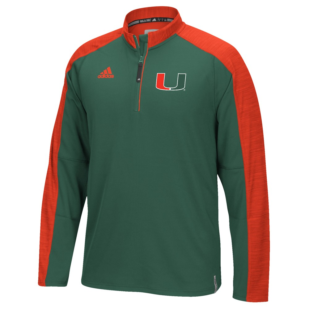 NCAA-Adidas-Team-Men-039-s-Sideline-Climalite-1-4-Zip-Hi-Visibility-Reflective-Knit thumbnail 60