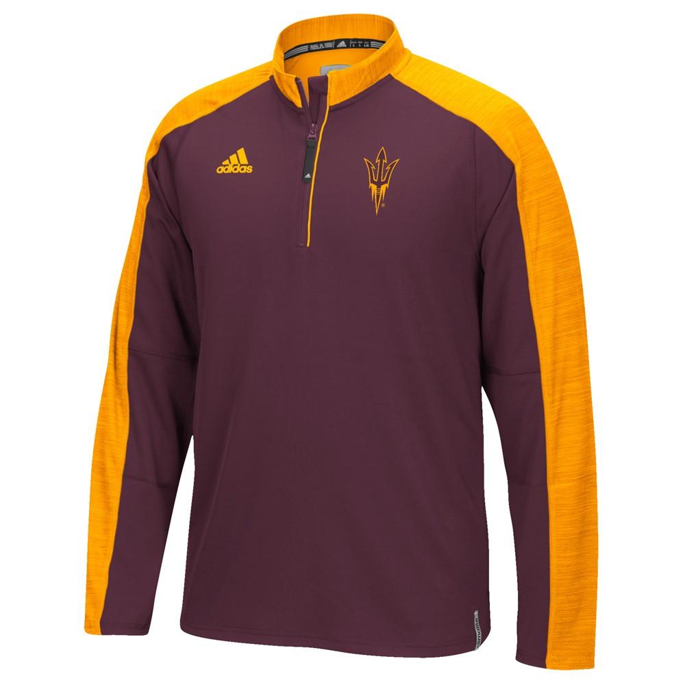 NCAA-Adidas-Team-Men-039-s-Sideline-Climalite-1-4-Zip-Hi-Visibility-Reflective-Knit thumbnail 9