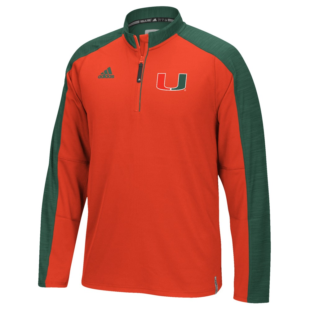NCAA-Adidas-Team-Men-039-s-Sideline-Climalite-1-4-Zip-Hi-Visibility-Reflective-Knit thumbnail 66