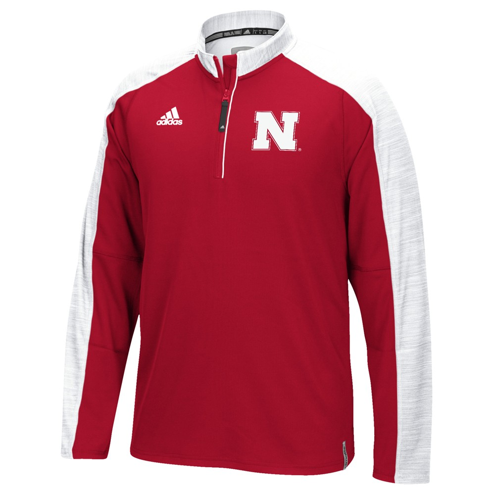NCAA-Adidas-Team-Men-039-s-Sideline-Climalite-1-4-Zip-Hi-Visibility-Reflective-Knit thumbnail 93