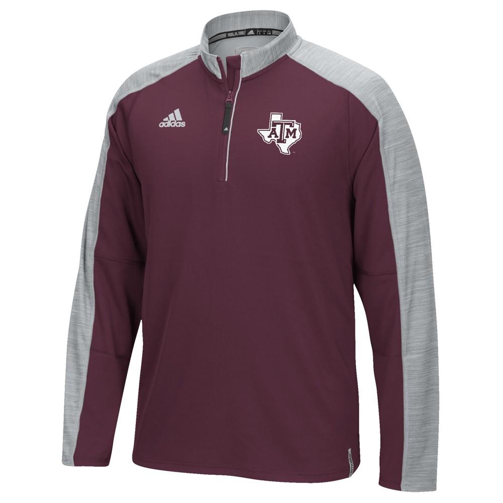 NCAA-Adidas-Team-Men-039-s-Sideline-Climalite-1-4-Zip-Hi-Visibility-Reflective-Knit thumbnail 102