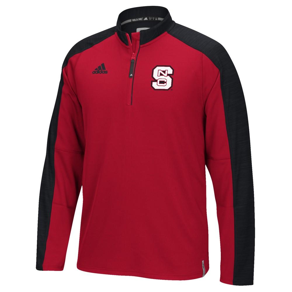 NCAA-Adidas-Team-Men-039-s-Sideline-Climalite-1-4-Zip-Hi-Visibility-Reflective-Knit thumbnail 81