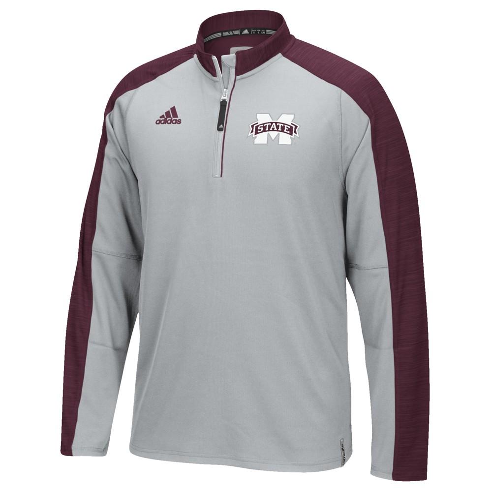 NCAA-Adidas-Team-Men-039-s-Sideline-Climalite-1-4-Zip-Hi-Visibility-Reflective-Knit thumbnail 72