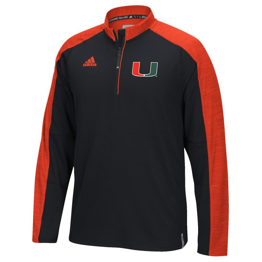 NCAA-Adidas-Team-Men-039-s-Sideline-Climalite-1-4-Zip-Hi-Visibility-Reflective-Knit thumbnail 57