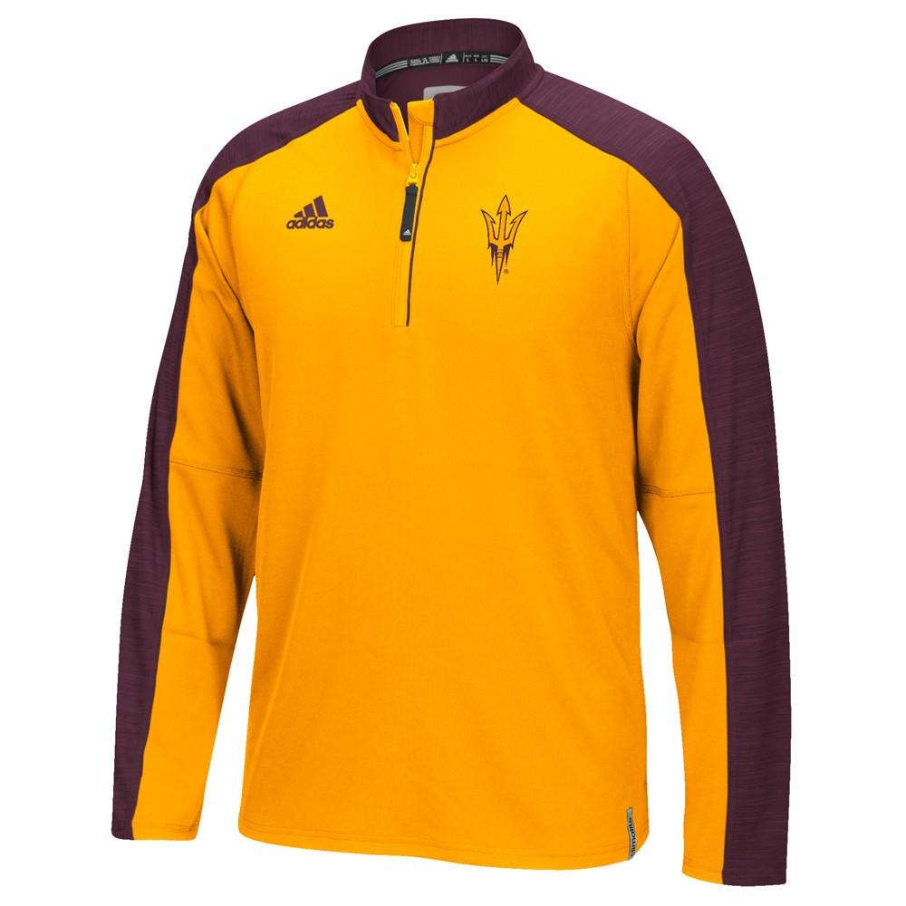 NCAA-Adidas-Team-Men-039-s-Sideline-Climalite-1-4-Zip-Hi-Visibility-Reflective-Knit thumbnail 6