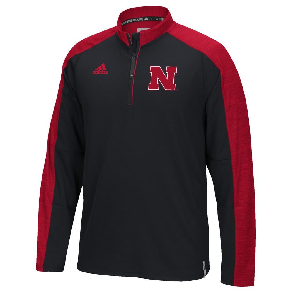 NCAA-Adidas-Team-Men-039-s-Sideline-Climalite-1-4-Zip-Hi-Visibility-Reflective-Knit thumbnail 87