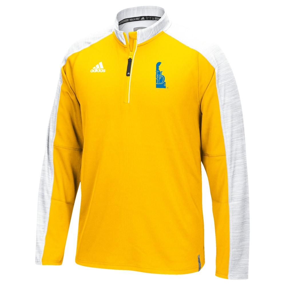 NCAA-Adidas-Team-Men-039-s-Sideline-Climalite-1-4-Zip-Hi-Visibility-Reflective-Knit thumbnail 15