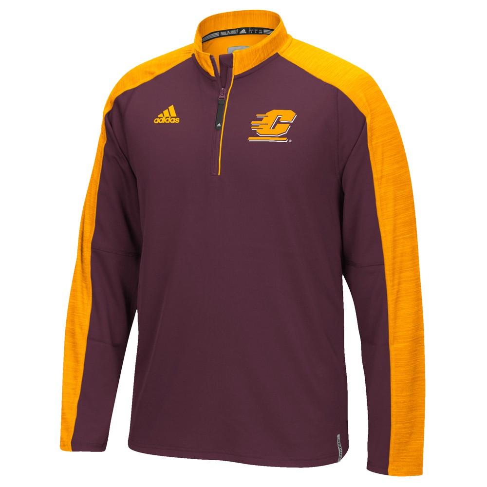 NCAA-Adidas-Team-Men-039-s-Sideline-Climalite-1-4-Zip-Hi-Visibility-Reflective-Knit thumbnail 12