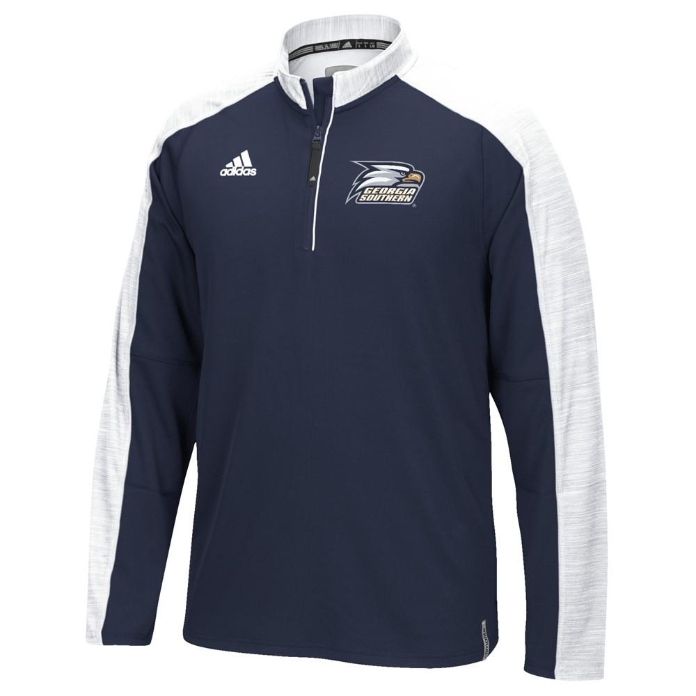 NCAA-Adidas-Team-Men-039-s-Sideline-Climalite-1-4-Zip-Hi-Visibility-Reflective-Knit thumbnail 24
