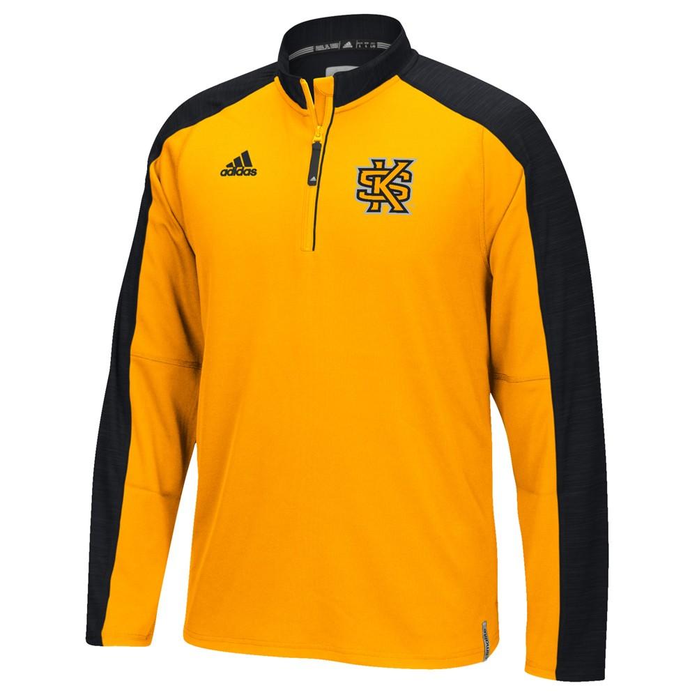 NCAA-Adidas-Team-Men-039-s-Sideline-Climalite-1-4-Zip-Hi-Visibility-Reflective-Knit thumbnail 45