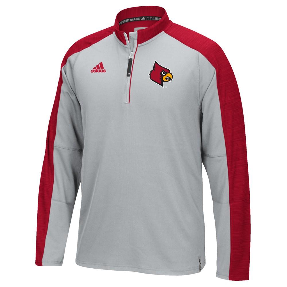 NCAA-Adidas-Team-Men-039-s-Sideline-Climalite-1-4-Zip-Hi-Visibility-Reflective-Knit thumbnail 51