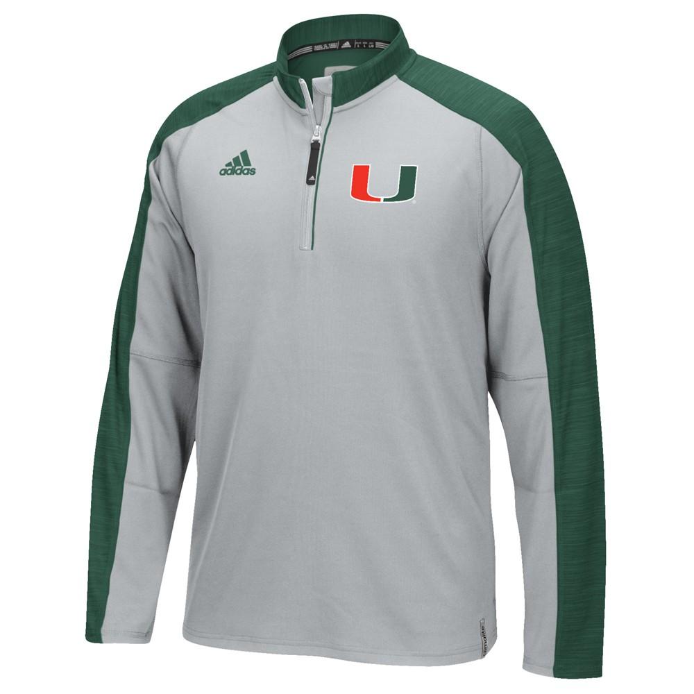 NCAA-Adidas-Team-Men-039-s-Sideline-Climalite-1-4-Zip-Hi-Visibility-Reflective-Knit thumbnail 63