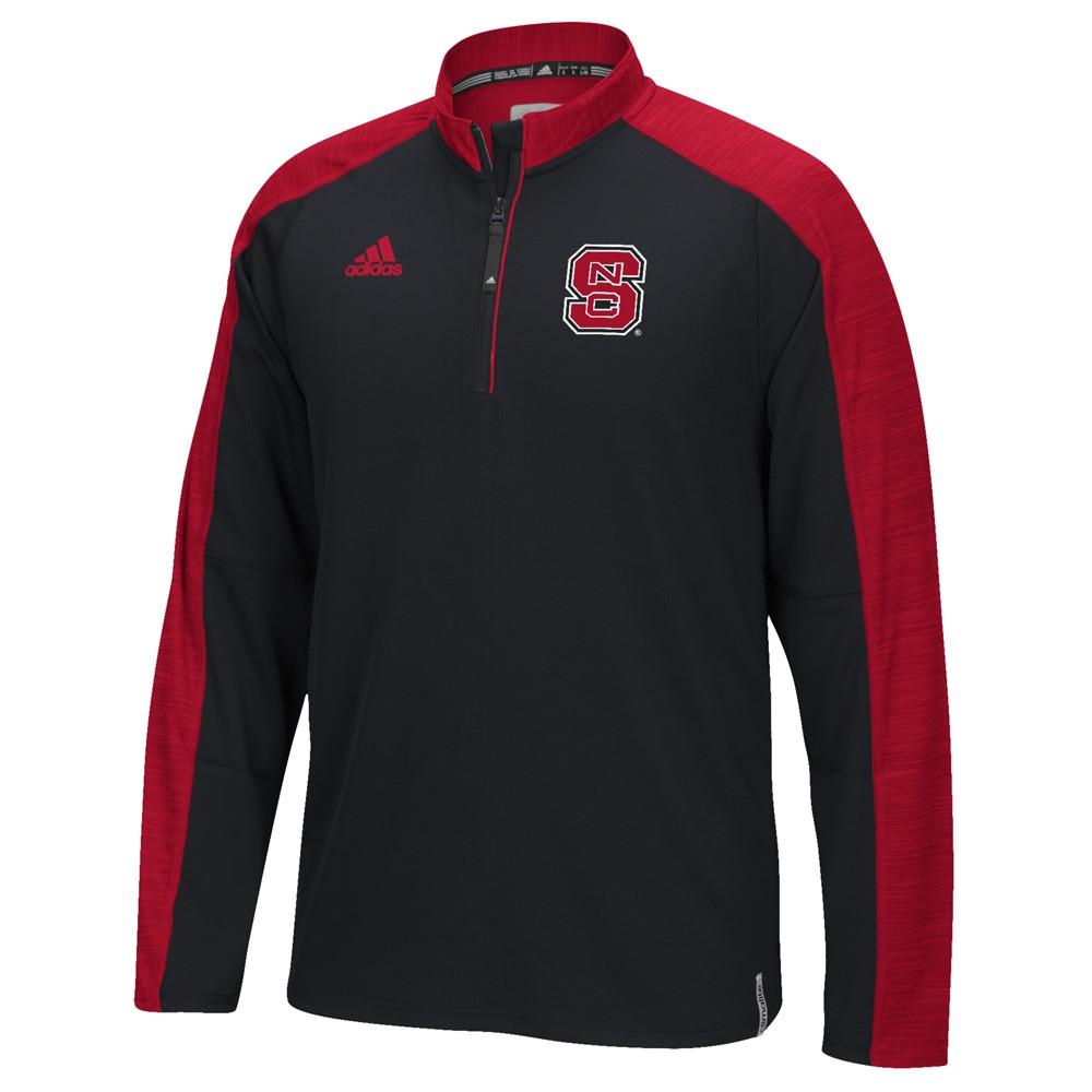 NCAA-Adidas-Team-Men-039-s-Sideline-Climalite-1-4-Zip-Hi-Visibility-Reflective-Knit thumbnail 78