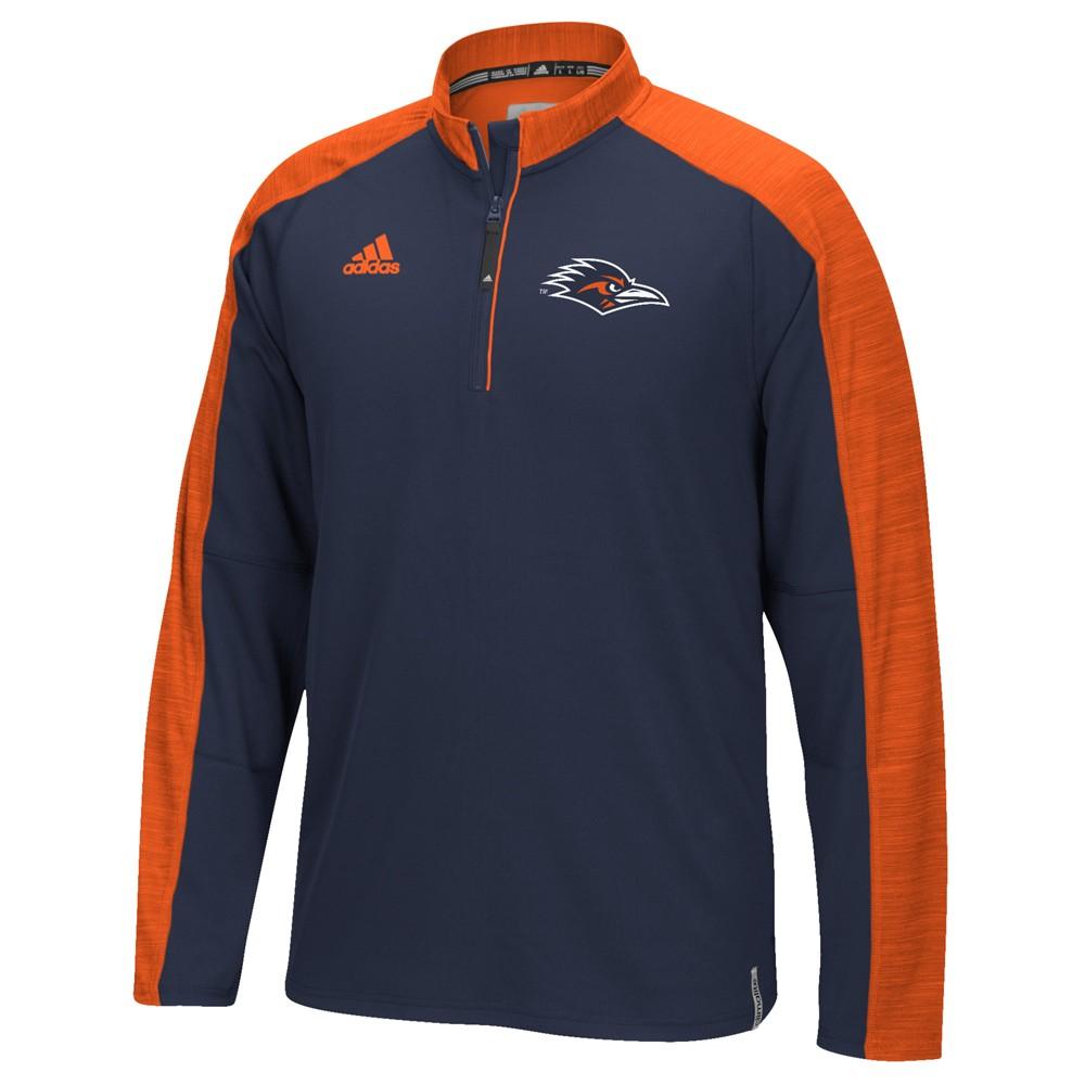 NCAA-Adidas-Team-Men-039-s-Sideline-Climalite-1-4-Zip-Hi-Visibility-Reflective-Knit thumbnail 116