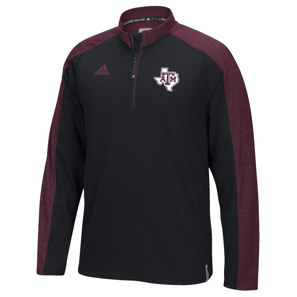 NCAA-Adidas-Team-Men-039-s-Sideline-Climalite-1-4-Zip-Hi-Visibility-Reflective-Knit thumbnail 99