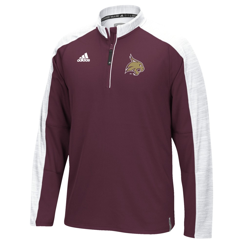 NCAA-Adidas-Team-Men-039-s-Sideline-Climalite-1-4-Zip-Hi-Visibility-Reflective-Knit thumbnail 105