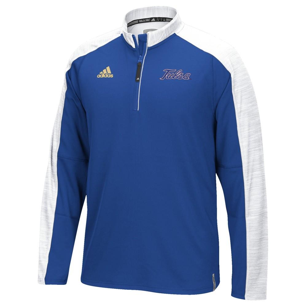 NCAA-Adidas-Team-Men-039-s-Sideline-Climalite-1-4-Zip-Hi-Visibility-Reflective-Knit thumbnail 110