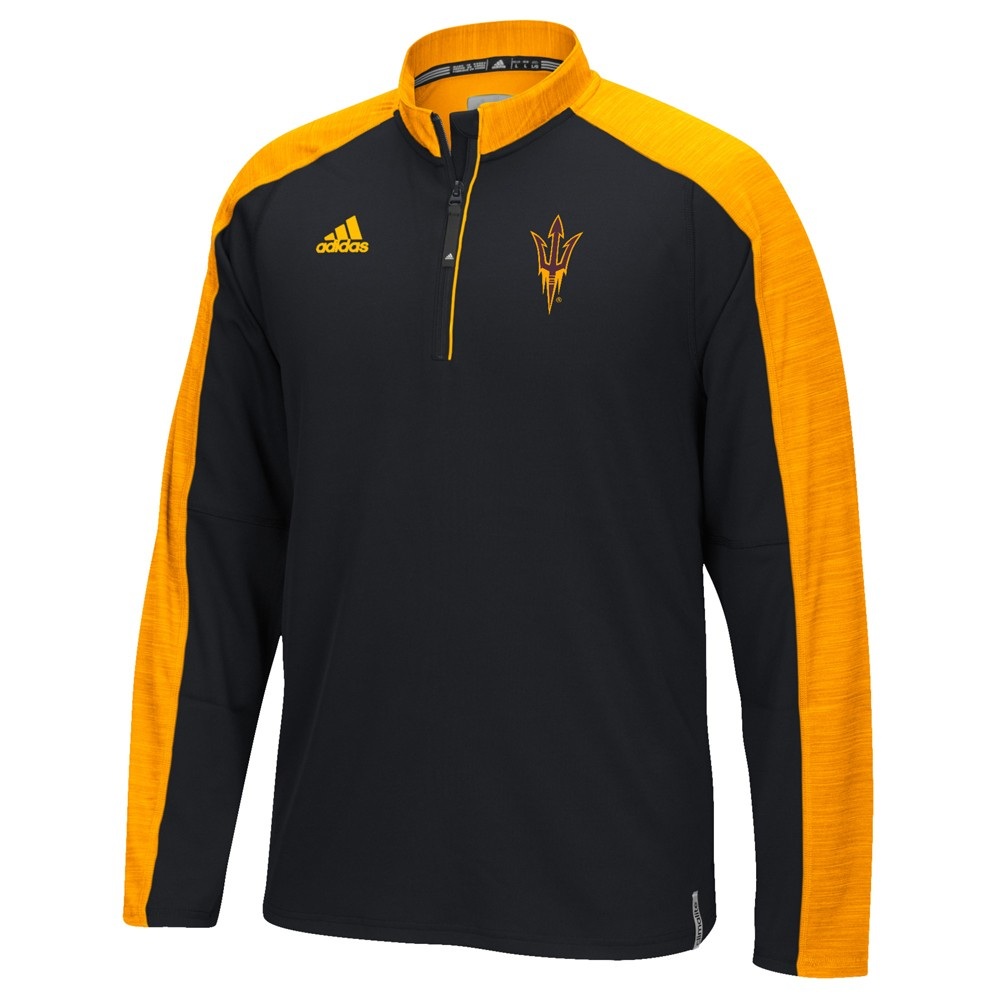 NCAA-Adidas-Team-Men-039-s-Sideline-Climalite-1-4-Zip-Hi-Visibility-Reflective-Knit thumbnail 3