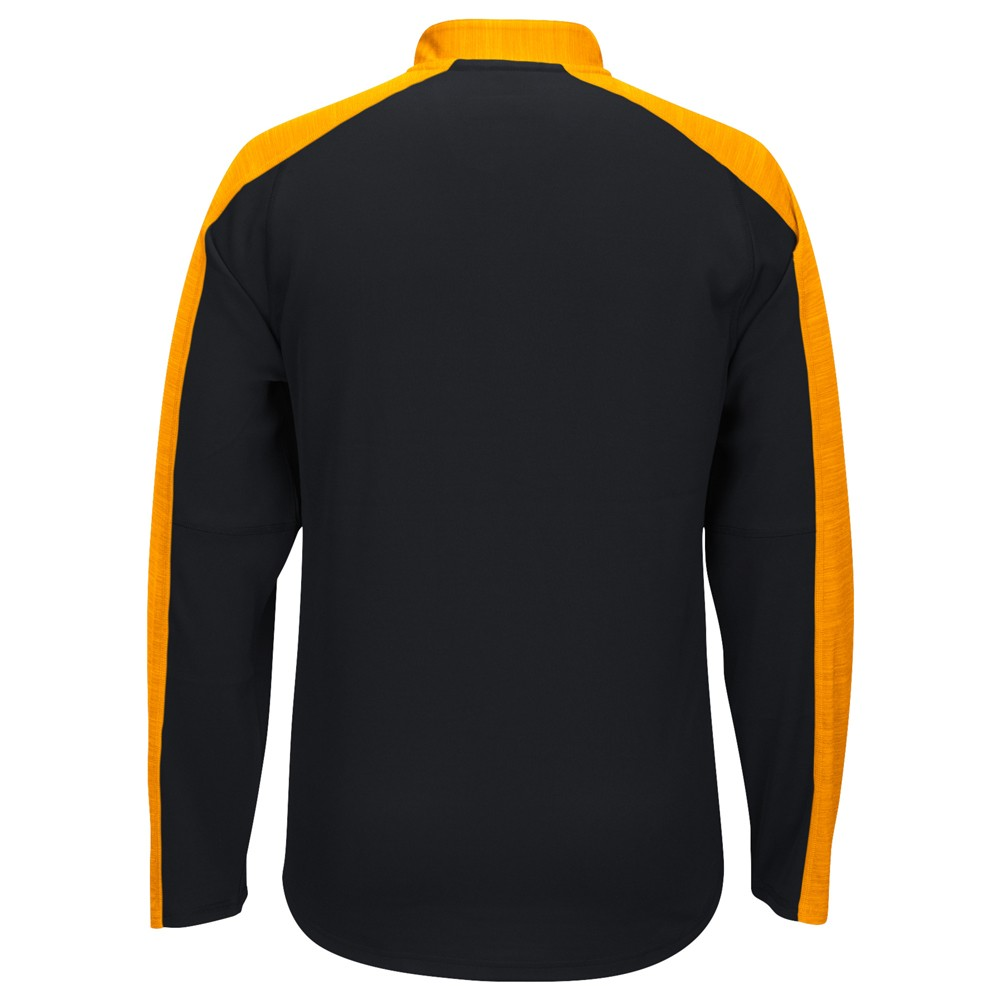 NCAA-Adidas-Team-Men-039-s-Sideline-Climalite-1-4-Zip-Hi-Visibility-Reflective-Knit thumbnail 4