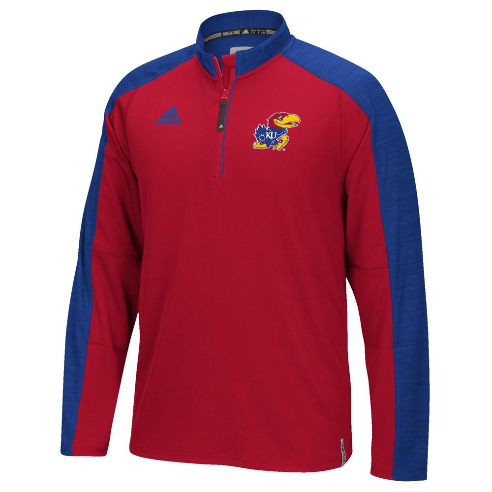 NCAA-Adidas-Team-Men-039-s-Sideline-Climalite-1-4-Zip-Hi-Visibility-Reflective-Knit thumbnail 39
