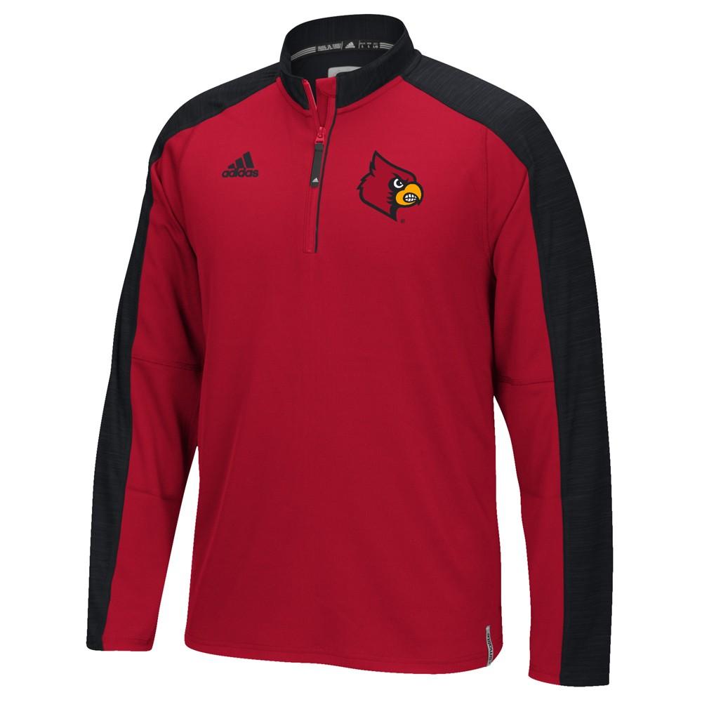NCAA-Adidas-Team-Men-039-s-Sideline-Climalite-1-4-Zip-Hi-Visibility-Reflective-Knit thumbnail 54
