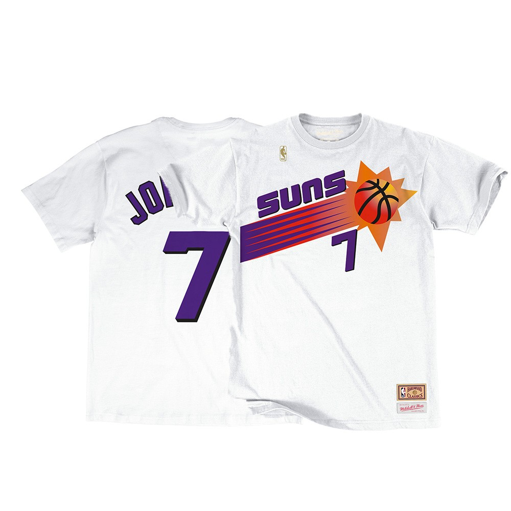 new concept 81e42 a237a Details about Kevin Johnson NBA Phoenix Suns Men's Mitchell & Ness White  N&N Jersey T-Shirt