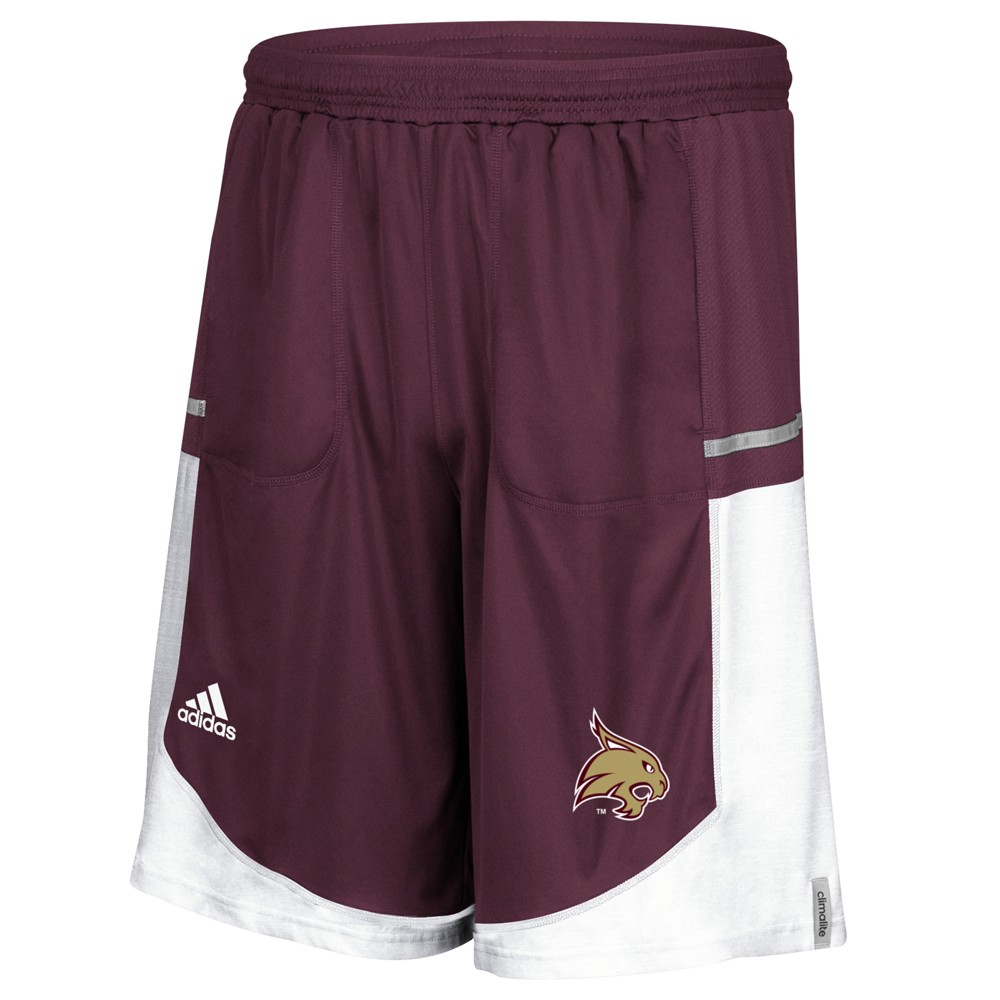 NCAA-Adidas-Men-039-s-Sideline-Player-Performance-Climalite-Basketball-Shorts thumbnail 42