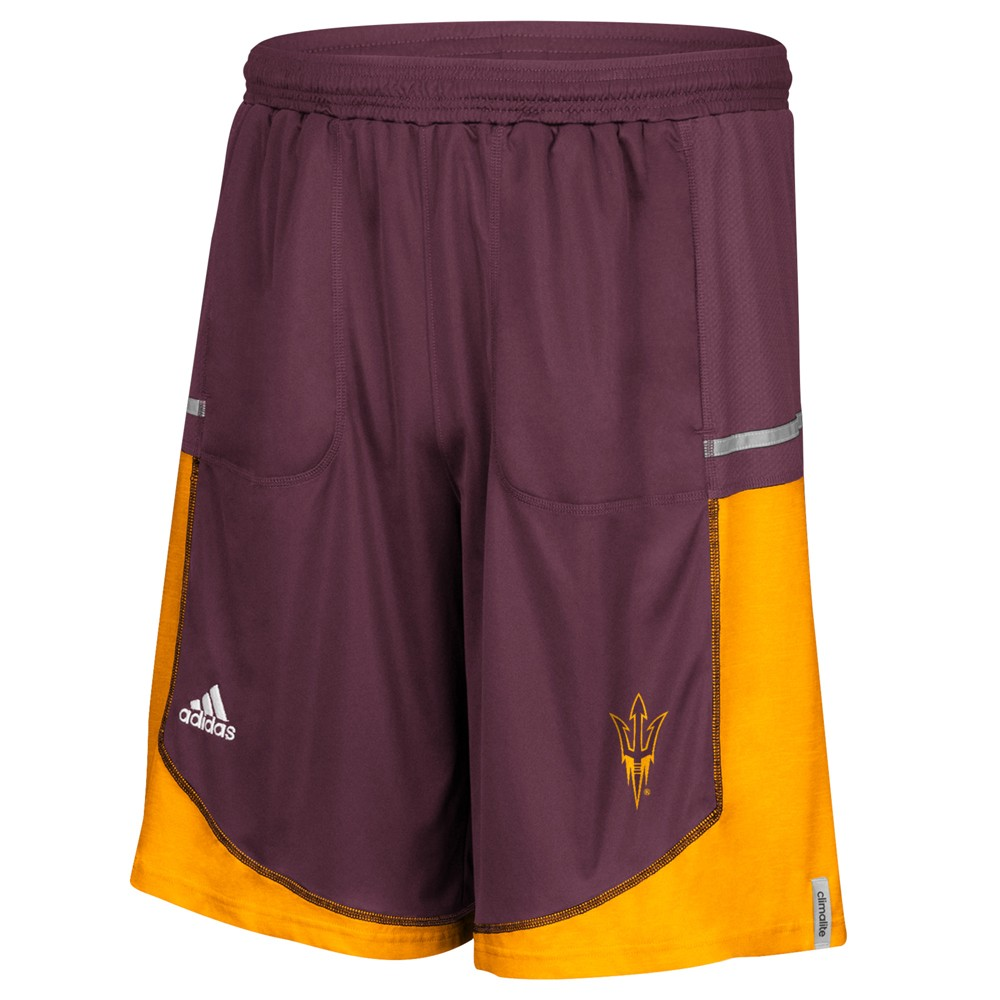 NCAA-Adidas-Men-039-s-Sideline-Player-Performance-Climalite-Basketball-Shorts thumbnail 3