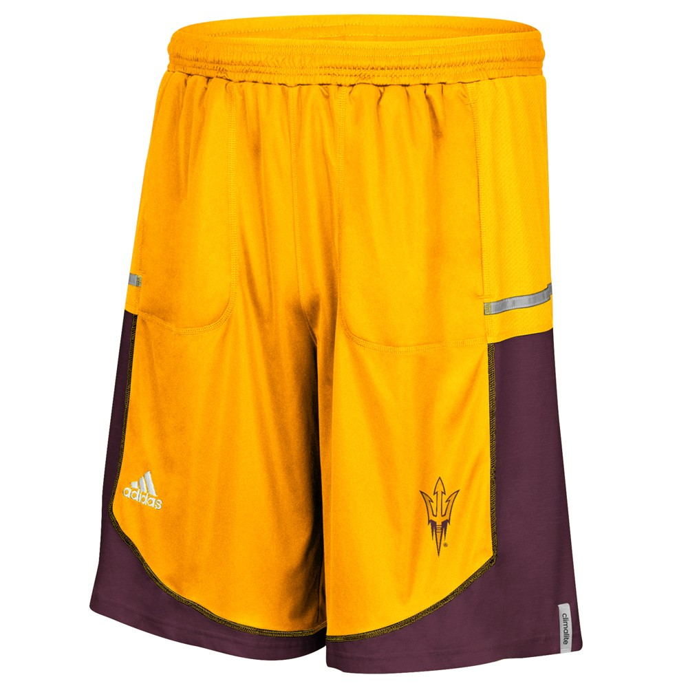 NCAA-Adidas-Men-039-s-Sideline-Player-Performance-Climalite-Basketball-Shorts thumbnail 6