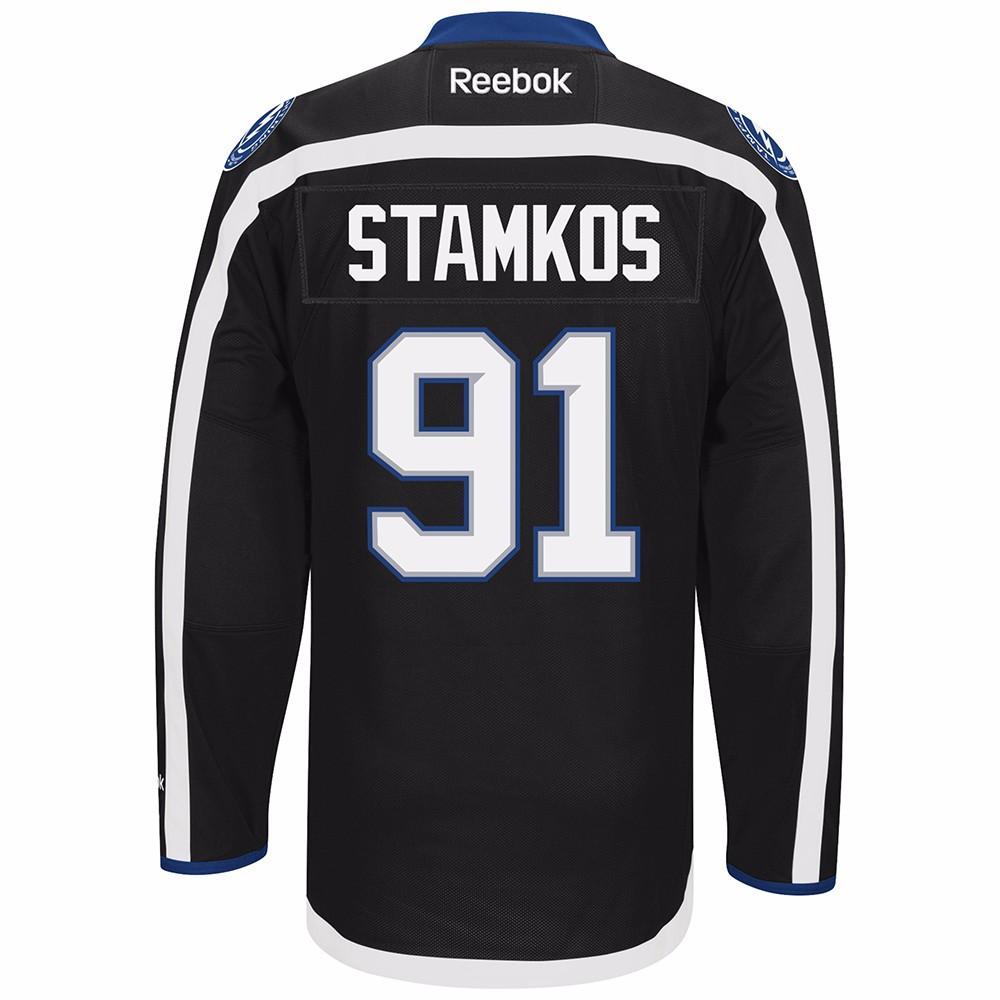 the latest 0f8e6 7bf07 Reebok Steven Stamkos Tampa Bay Lightning NHL Men Black ...