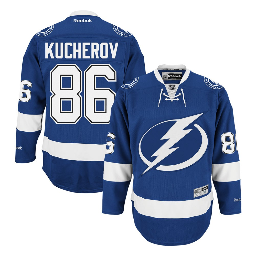 Details about Nikita Kucherov Reebok Tampa Bay Lightning Home Blue Premier  Jersey Men s 4a9cb28de