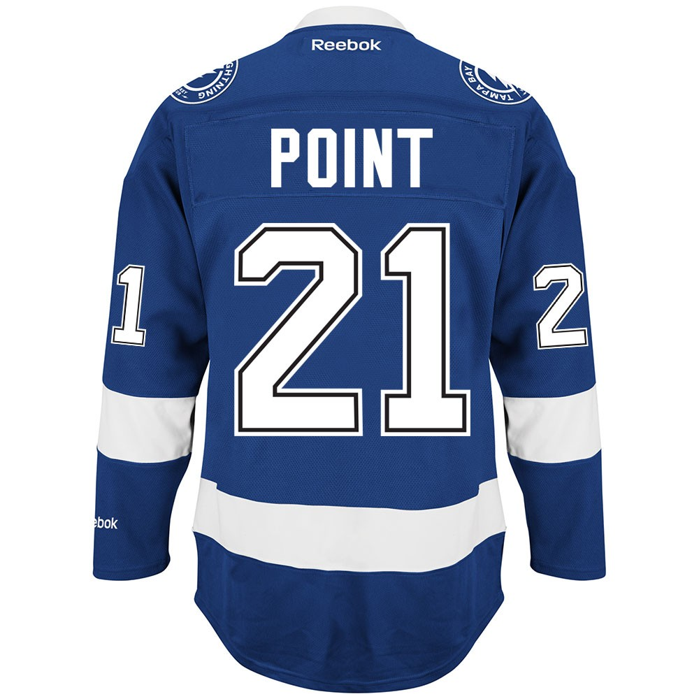 26e0ae027aa Tampa Bay Lightning Reebok Home Blue Premier Jersey Collection Men s ...