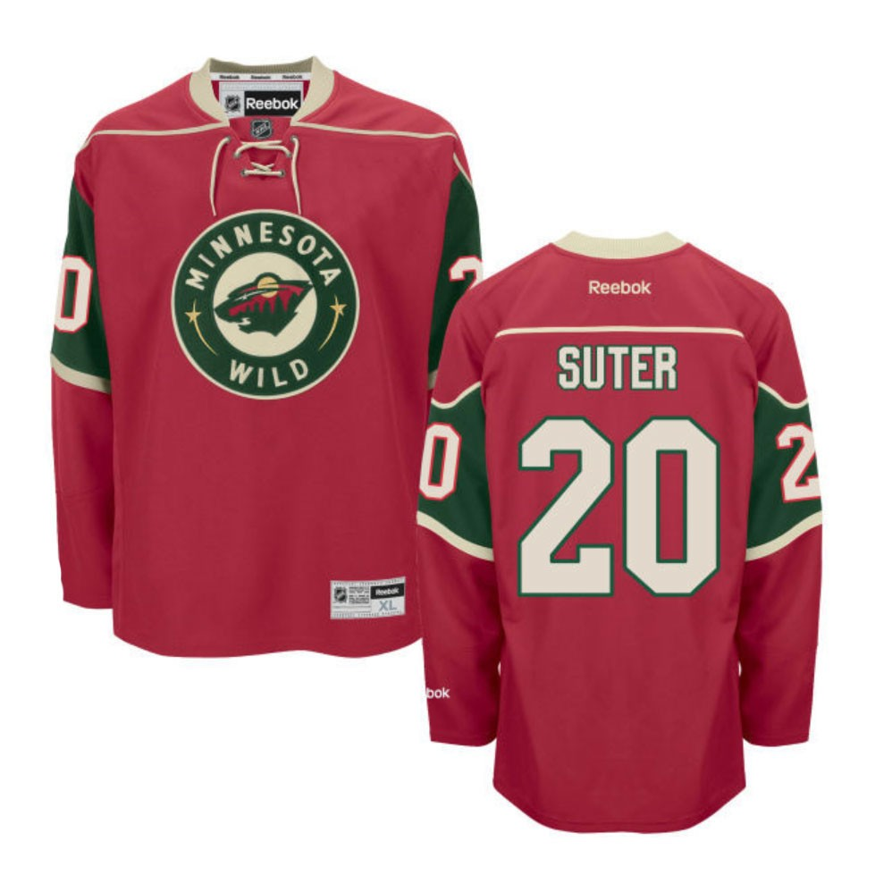 online store f54ee 3f872 Details about Ryan Suter Reebok Minnesota Wild Official Home Red Premier  Jersey Men's