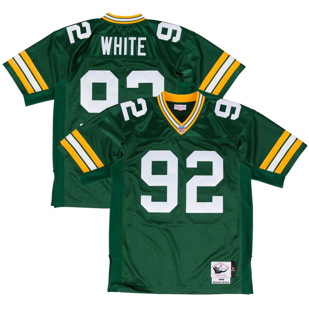 b20da6ee118 1996 Reggie White NFL Green Bay Packers Mitchell & Ness Authentic Home Green  Jersey (52)