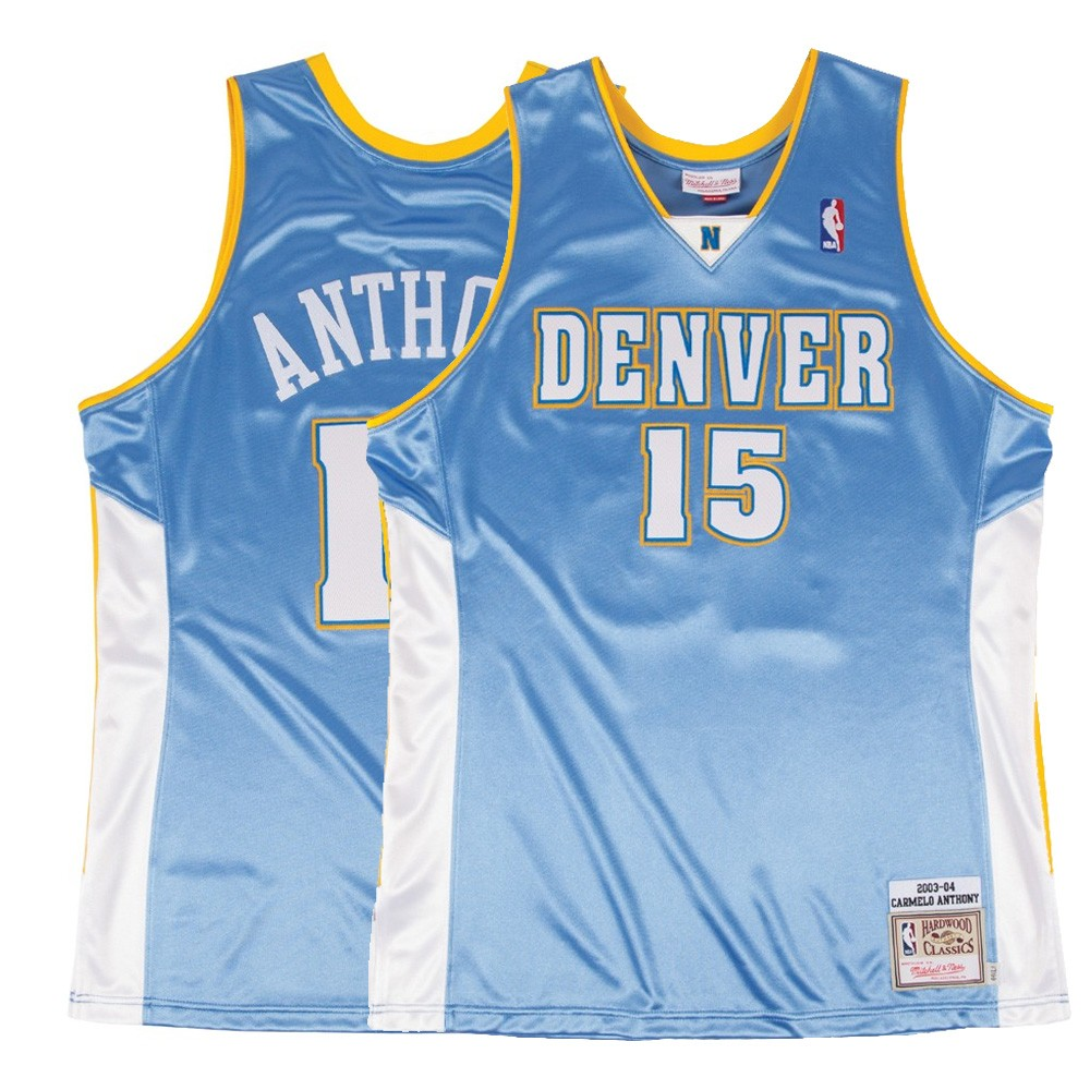 new product 17797 2dede Details about 2003-04 Carmelo Anthony NBA Denver Nuggets Mitchell & Ness  Authentic Away Jersey