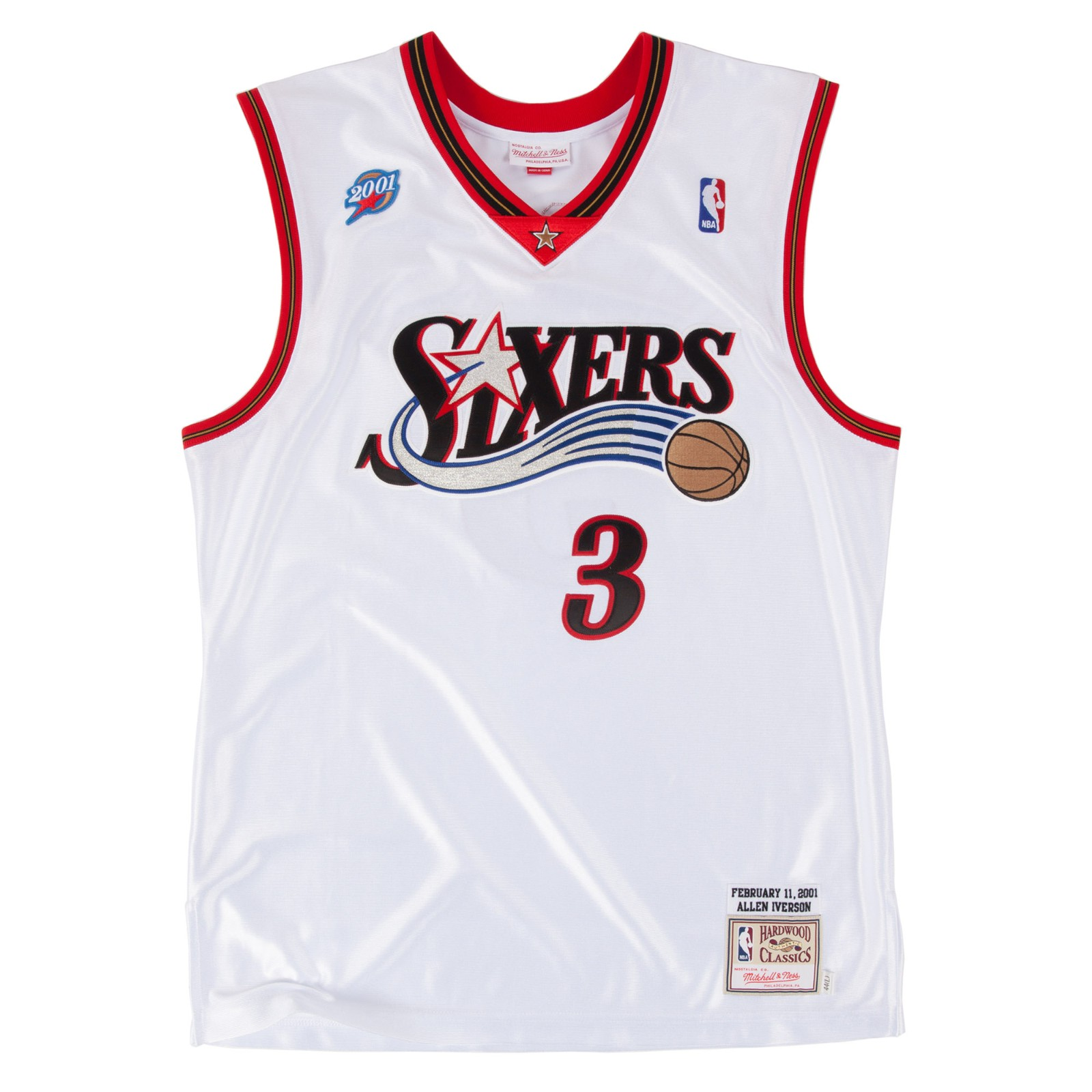 386b09449 Allen Iverson 2001 Philadelphia 76ers Mitchell   Ness Authentic All Star  Jersey