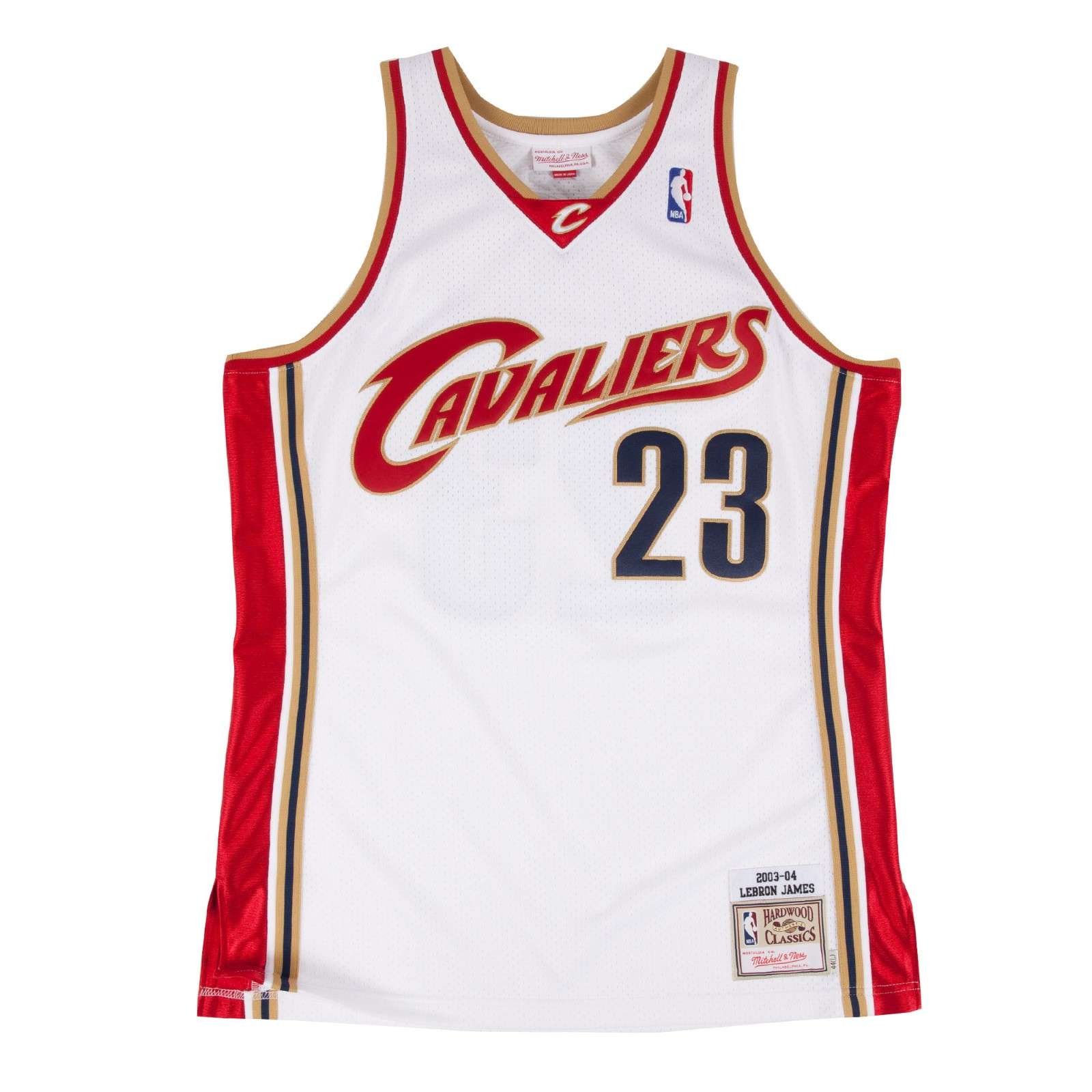 best cheap 13f13 e4b9d Details about LeBron James 2003-04 Cleveland Cavaliers Mitchell & Ness  Authentic Home Jersey