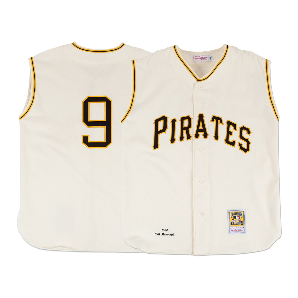 purchase cheap 0b25f 72fe0 Details about 1960 Bill Mazeroski MLB Pittsburgh Pirates Mitchell & Ness  Authentic Home Jersey
