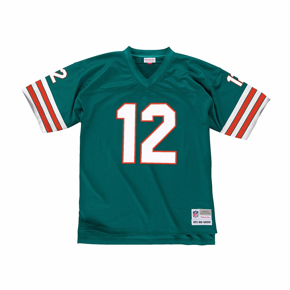 0423f062 Mitchell & Ness Bob Griese Miami Dolphins Aqua Retired Player Replica Jersey  M. About this product. Picture 1 of 4; Picture 2 of 4; Picture 3 of 4;  Picture ...
