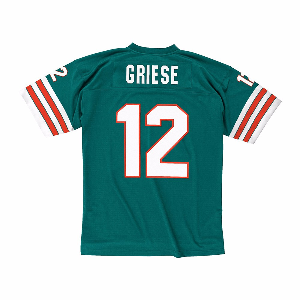 cc8b62f1 Mitchell & Ness Bob Griese Miami Dolphins Aqua Retired Player Replica Jersey  M. About this product. Picture 1 of 4; Picture 2 of 4; Picture 3 of 4 ...